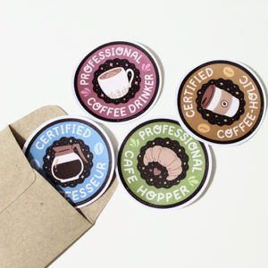 Coffee Lovers | Colored (4pcs)